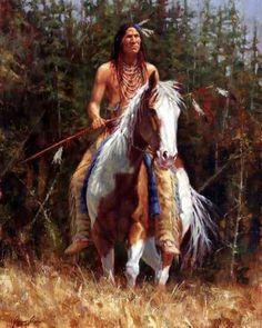 Oglala of the Black Hills (Lakota), James Ayers original painting, 2008 native american Paintings Native American Horses, Native American Warrior, Native American Paintings, Native American Wisdom, Native American Pictures, Native American Beauty, American Indian Art, Native American History, American Indians