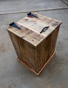 Rustic Trash Disposal or Hamper Decor by TheRusticWarehouse