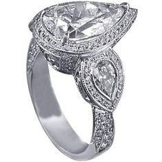 Halo Engagement Ring Settings Pear Shape 24