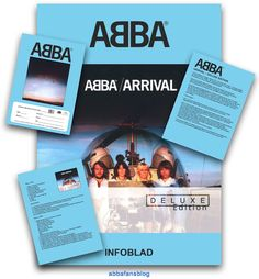"""Promotional material for the Deluxe version of Abba's """"Arrival"""" album which was issued in Sweden...   #Abba #Agnetha #Frida http://abbafansblog.blogspot.co.uk/2016/11/abba-album-promotional-material.html"""