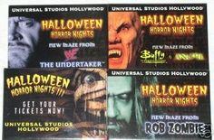 Halloween Horror Nights Employee Buttons 1999 2000 New (11/01/2006)