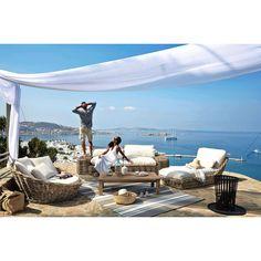 Canapé 1/2 places en rotin - St Tropez