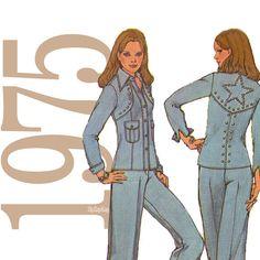 70s Cowgirl Vintage Pattern  B38  Simplicity 7185 by ZipZapKap, $11.75