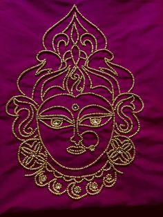 Embroidery On Kurtis, Kurti Embroidery Design, Hand Embroidery Dress, Hand Embroidery Videos, Embroidery Fashion, Aari Embroidery, Embroidered Blouse, Saree Blouse Neck Designs, Dress Neck Designs