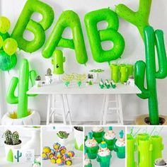We are in love with this cactus themed baby shower!