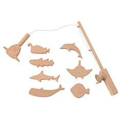 木製玩具 つりあそびセット さかな8匹・つりざお・対象年齢3歳以上 | 無印良品ネットストア