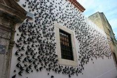 """""""Andorinhas"""" by ceramicist Bordallo Pinheiro  in Belem Portugal..."""