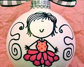 Princess - Hand Painted Personalized Ornament - Purple / Hot Pink. $14.00, via Etsy.