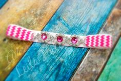 0 to 3 m Hot pink & white chevron by AdoraBowsByLeilaHale on Etsy, $8.50