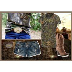 """Only with real cowboy boots :)     """"Kiss My Country A**"""" by nicolecowan on Polyvore"""