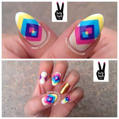 CMY Overlay  inspired by the beautiful artwork of... - SuPa Nails