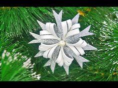 Простой способ сделать снежинку из фоамирана - YouTube Foam Christmas Ornaments, Christmas Tree Toy, Christmas Decorations To Make, Diy Arts And Crafts, Fun Crafts, Christmas Crafts, Diy Flowers, Christmas Tree Crafts, Easy Kids Crafts