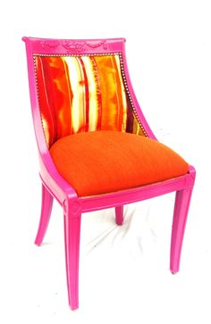 Pink and orange by the divine chair