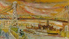 Williamsburg Bridge by Joseph Delaney