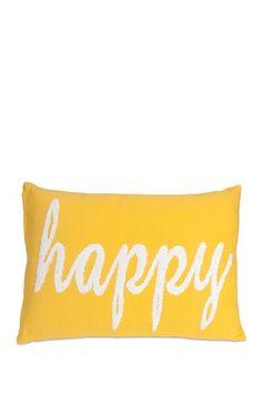 Suzie Yellow Happy Pillow by Imax on @HauteLook