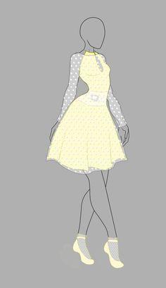"""Cette tenue fait un peu """"année 60"""" mais elle est la bienvenue dans notre grande collection !"""