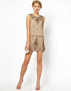 embellished mini dress | 1920's retro flapper fashion vintage inspired