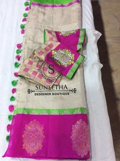 Kanchipuram pattu sarees with Maggam work blouses by Suneetha Designer boutique! Work Blouse, Blouse Designs, Sarees, Blouses, Boutique, Scrub Tops, Saris, Blouse, Boutiques