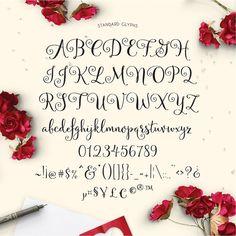Velvetberries Hand Lettered Calligraphy Script by EmilySpadoni