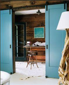 schuif/staldeuren walk-in closet / penthouse