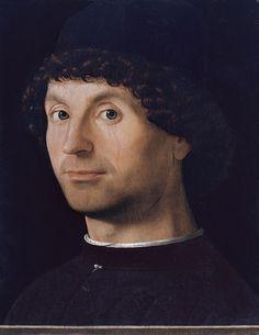 Antonello da Messina (1430-1479) - Ritratto di giovane - 1475-1476 circa - Madrid, Museo Thyssen-Bornemisza