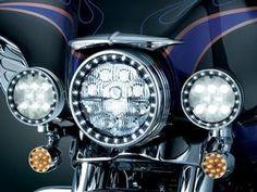 Kuryakyn LED Halo Spot Light Trim Rings - Harley Davidson