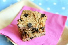 Chocolate Chip Blondies made with White Beans or Chickpeas