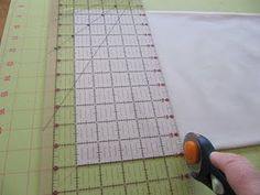 How to cut fabric squares with a rotary cutter