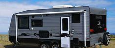 External of the Australian designed and built Overland caravans. Caravans, Gold Coast, Recreational Vehicles, Range, Building, Cookers, Buildings, Camper, Construction