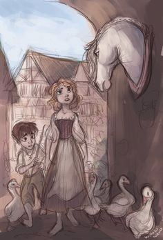 by WillowWaves.deviantart.com on @deviantART Ohhhh it's the Goose Girl! This story always fascinated me.