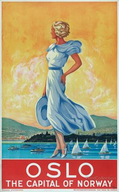 TX248 Vintage 1920/'s Norway In September Travel Poster Re-Print A1//A2//A3//A4