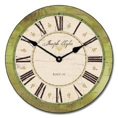 "Carolina Green Wall Clock, 10"" - 48"", Whisper Quiet, non-ticking *** Check out this great product."