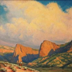 """Kolob Canyon,"" Kimbal  Warren, oil on canvas"
