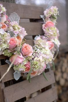 Floral garland by Hey Gorgeous- I so love pink roses :) Rose Wedding, Floral Wedding, Wedding Flowers, Wedding Day, Floral Garland, Flower Garlands, Rose Garland, Deco Floral, Floral Design