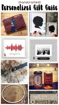 Handcrafted Personalized Gift Guide for the Holidays