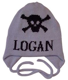 2da2bdfe0daac Personalized Skull Crossbones Hat with Earflaps Expecting Mom Gifts