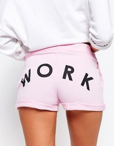 Image 3 of Adolescent Clothing Jogger Shorts With Work Print