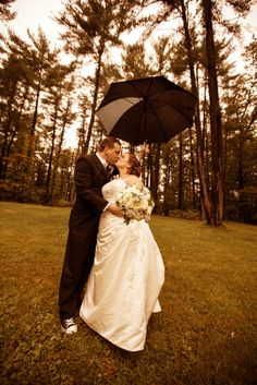 Couple kissing under an umbrella.  Copyright Photographics Solution 2012