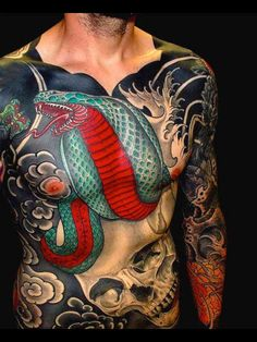 Japanese Tattoo. Yes !!!!' One of my favorite pieces I have ever come across, amazing!!!!!