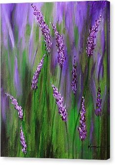 Lavender Garden Canvas Print by Kume Bryant