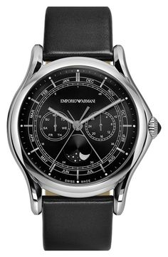 Emporio+Armani+Swiss+Made+Moonphase+Multifunction+Watch,+44mm+available+at+#Nordstrom