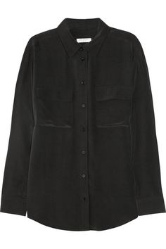 Equipment | Signature washed-silk shirt | NET-A-PORTER.COM