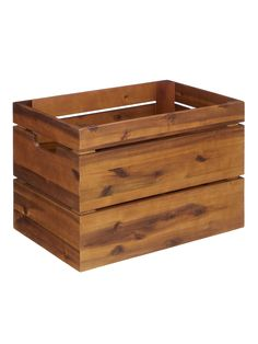 John Lewis & Partners Country Storage Crate, Brown at John Lewis & Partners Storage Trunk, Crate Storage, Toy Storage, Storage Chest, Raw Wood, Wood And Metal, Cheap Furniture, Kitchen Furniture, Office Furniture