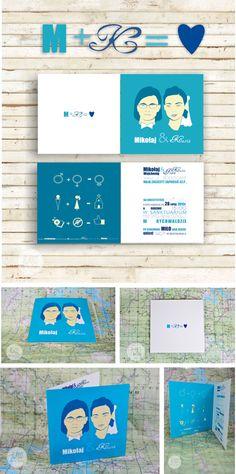 studio Burro - zaproszenia ślubne, nowoczesne nietypowe http://studioburro.pl/zaproszenia/zaproszenie-slubne-nowoczesny-design-turkusowe/