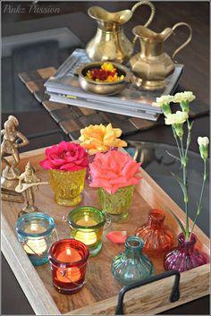 Eclectic Decor: color bottles décor, Color Inspiration, colorful d.
