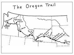 Oregon Trail Map Printable | Oregon Trail | Learn | FamilySearch.org