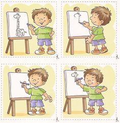 images séquentielles OK Sequencing Pictures, Sequencing Cards, Story Sequencing, Sequencing Activities, Speech Therapy Activities, Activities For Kids, Preschool Kindergarten, Worksheets For Kids, Speech And Language