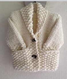 Diy Crafts - Noah baby cardigan, hat and booties knitting pattern 3 sizes Knitting pattern by Designs by Tracy D Baby Cardigan Knitting Pattern Free, Baby Boy Knitting, Knitted Baby Cardigan, Hand Knitted Sweaters, Boys Sweaters, Baby Knitting Patterns, Knit Vest, Free Knitting, Cardigans