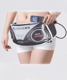 EMS Waist Slimming massager belt with heating, and vibration [SKU#ST606F] - $39.00 : Rakeinme.com