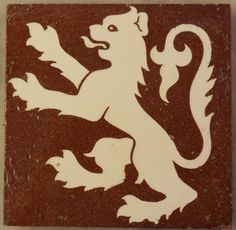 Minton & Co solid body encaustic floor tile c1869 Pugin ?
